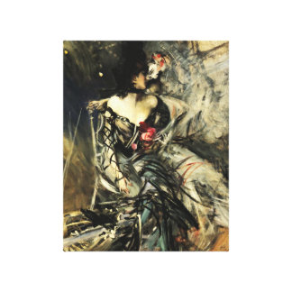 Spanish Dancer at the Rouge Gallery Wrapped Canvas