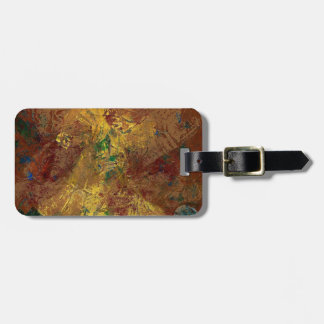 Spanish dancer in terra cotta luggage tag