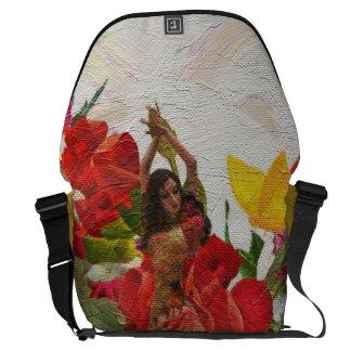 Spanish Dancer Rose Flowers Messenger Bag