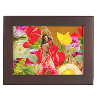 Spanish Dancer Roses Tan Background Memory Box