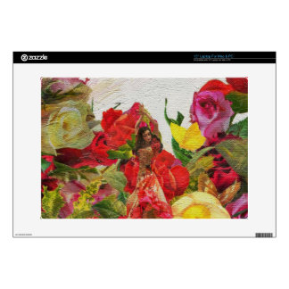 Spanish Dancer Roses Textured Laptop Skin