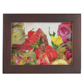 Spanish Dancer Roses Textured Memory Box