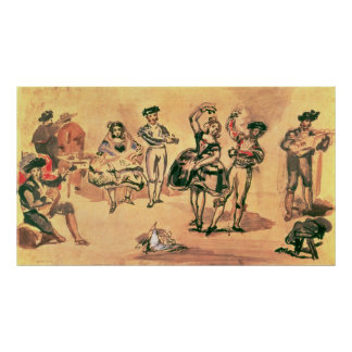 Spanish Dancers, 1862 Poster
