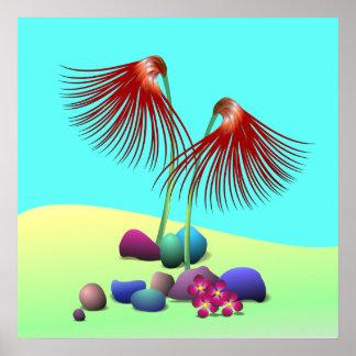 Spanish Dancing Flowers Poster