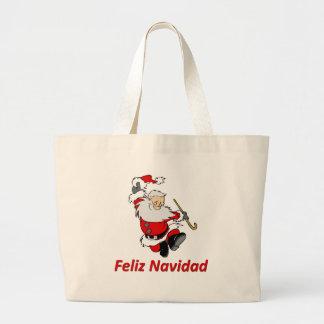 Spanish Dancing Santa Claus Tote Bag
