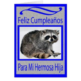 spanish daughter birthday card