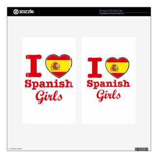Spanish design decal for kindle fire