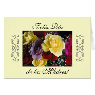 Spanish: Dia de las madres Mother's day Greeting Card