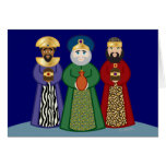 spanish DIA DE REYES *three KINGS day* greeting Greeting Cards