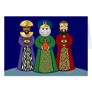 spanish DIA DE REYES *three KINGS day* greeting Card