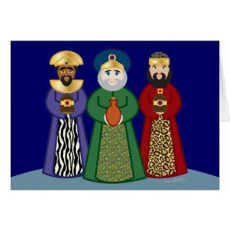 spanish DIA DE REYES *three KINGS day* greeting Card