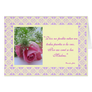 Spanish: Dios creo a las madres /Mother's day Card