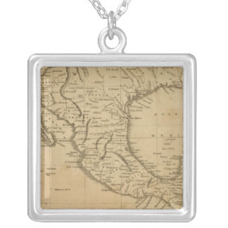 Spanish Dominions in North America Silver Plated Necklace