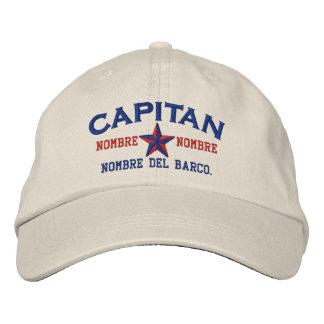 SPANISH El Capitan Nombre del barco y su nombre Embroidered Baseball Cap
