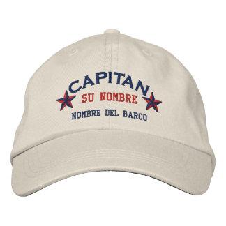 SPANISH El Capitan Nombre del barco y su nombre. Embroidered Baseball Hat