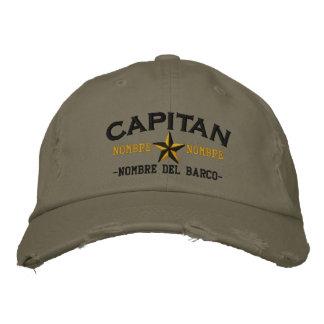 SPANISH El Capitan Nombre del barco y su nombre Embroidered Baseball Hat