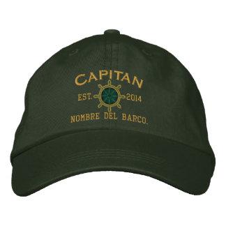 SPANISH El Capitan Su ubicación Nombre del barco. Embroidered Baseball Cap