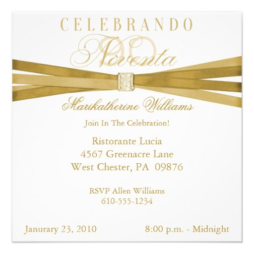 spanish_elegant_90th_birthday_party_invitations ...