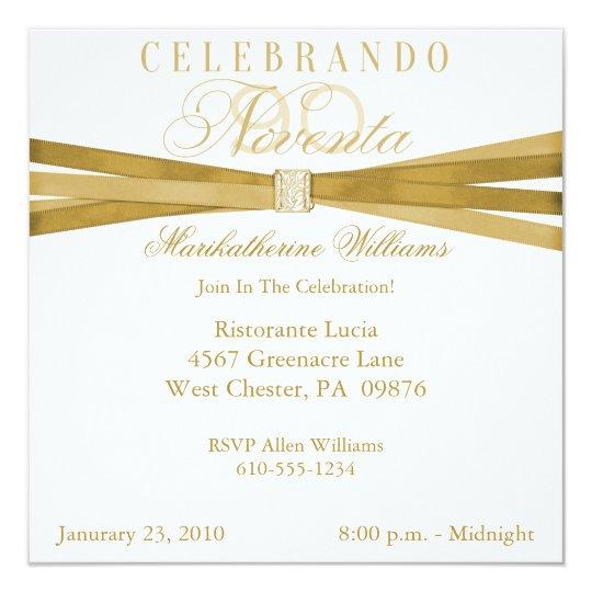 Spanish Elegant 90th Birthday Party Invitations Zazzle Com