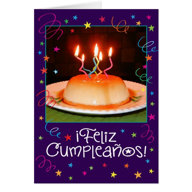 SpanishEnglish Flantastico Birthday Card Zazzlecom