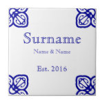 "Spanish Family Name Sign Tile<br><div class=""desc"">Spanish tile family name sign.  Wedding or anniversary present. Commemorative.</div>"