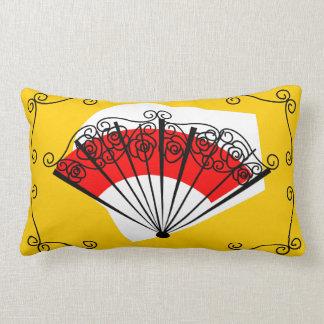 Spanish Fan corners striped back pillow lumbar
