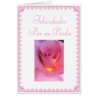 Spanish: Feliz Boda Card