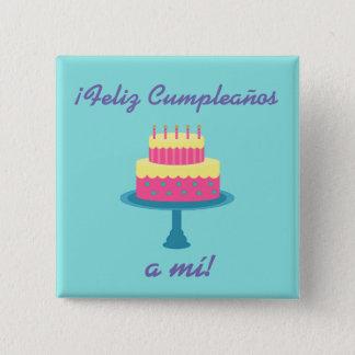 """Spanish """"Feliz cumpleaños"""" """"Happy Birthday"""" Button"""