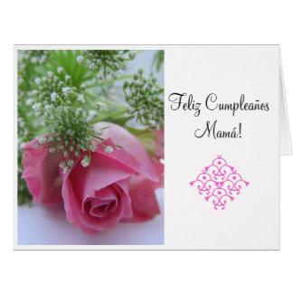 Spanish: Feliz Cumpleanos Mamá! Grande Card