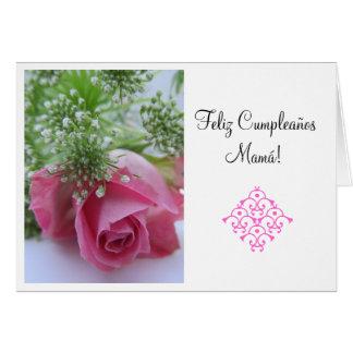 Spanish: Feliz Cumpleanos Mamá! Hz Card