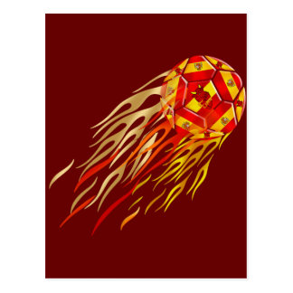Spanish Fireball soccer futbol lovers soccer ball Postcard