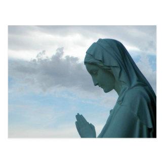 Spanish First Communion Invitation. Lady Praying Postcard
