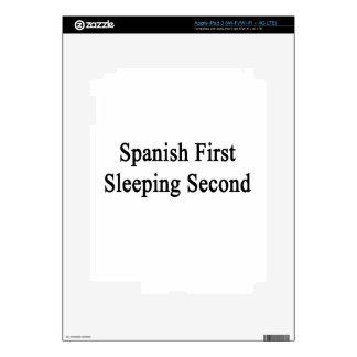 Spanish First Sleeping Second Skin For iPad 3