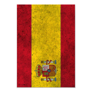 Spanish Flag Aged Steel Effect Personalized Announcement