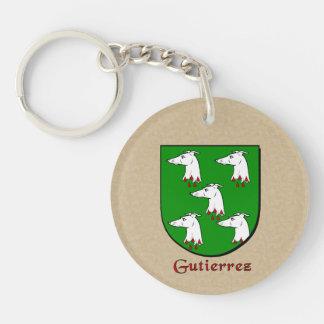 Spanish Flag and Gutierrez Historical Shield Keychain