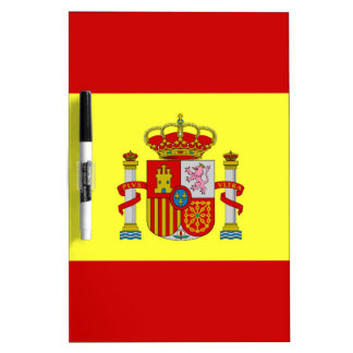 Spanish Flag Bandera Española Gifts Dry Erase Board