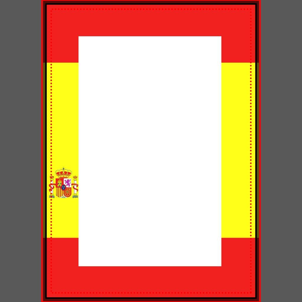 Spanish Flag Border Invitation Spanish Borders