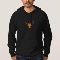 Spanish Flag Bull Skull Hoodie