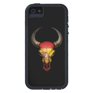 Spanish Flag Bull Skull on Black Case For iPhone SE/5/5s