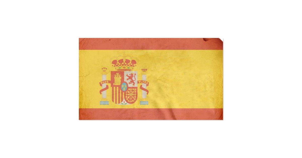 Spanish Flag Business Card