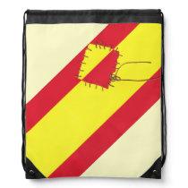 Spanish Flag by @QUIXOTEdotTV Drawstring Bag