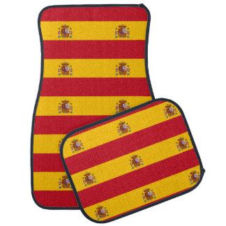 Spanish flag car mat set