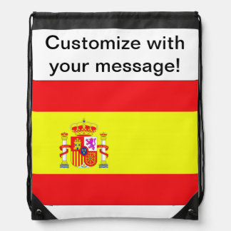Spanish Flag Drawstring Bag