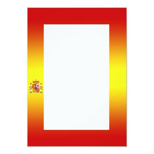 "Spanish Flag Gradient Invitation 5"" X 7"" Invitation Card"