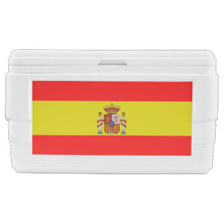Spanish flag ice chest