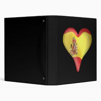 Spanish Flag In A Heart Vinyl Binders