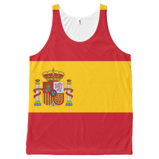Spanish flag All-Over print tank top