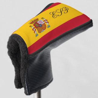 Spanish flag monogrammed golf head putter cover