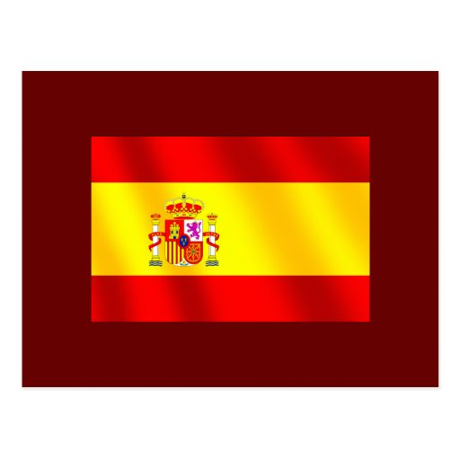 Spanish flag of Spain gifts for Spaniards Postcard
