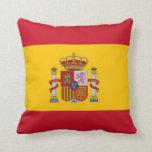 Spanish Flag on American MoJo Pillow